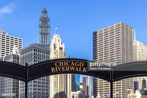 Chicago Riverwalk Arched Sign