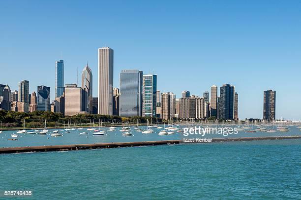 Chicago skyline and Michigan Lake, Illinois