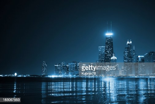 Chicago Skyline de Noite
