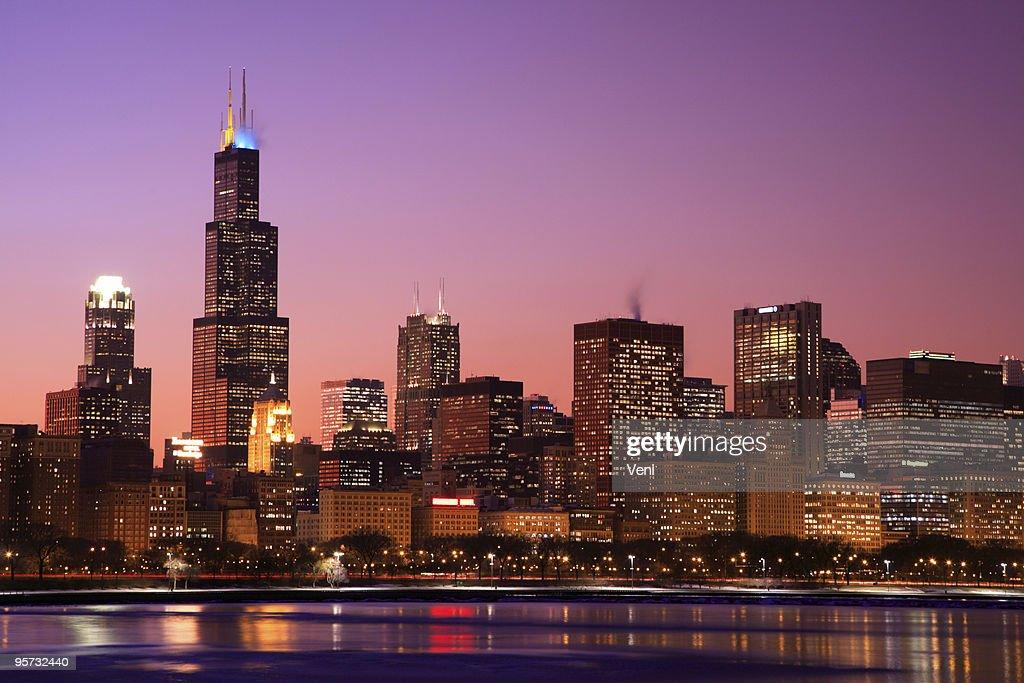 Chicago Skyline, Illinois : Stock Photo
