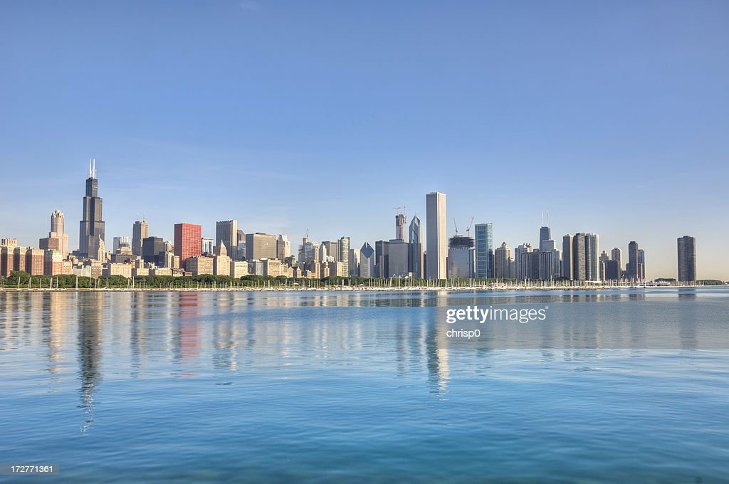 Chicago Skyline in the Morning : Stock Photo