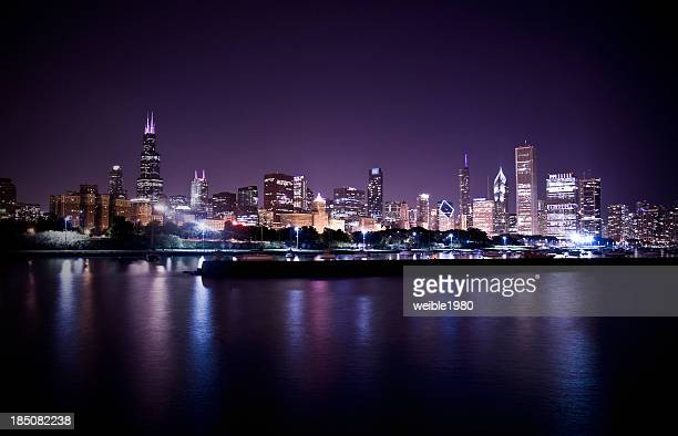 Chicago Skyline in the night