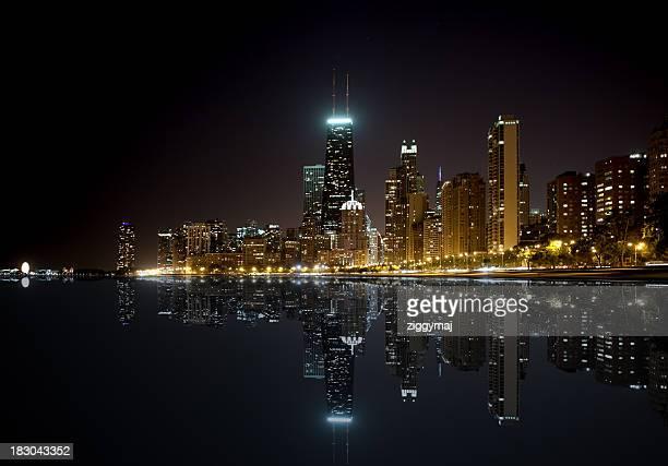 Chicago Skyline - North Beach by night