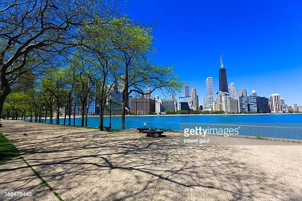 シカゴの街並みから見たプロムネード