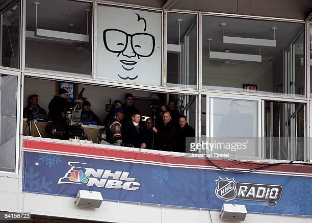 Chicago sports legends Ryne Sandberg Bobby Hull Billy Williams Stan Mikita Ferguson Jenkins Tony Esposito and Denis Savard sign a hockey themed...