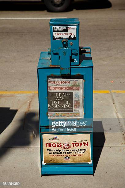 A Chicago SunTimes newspaper box in downtown Chicago The newspaper's owner the SunTimes Media Group filed for bankruptcy March 31 2009 Now both major...