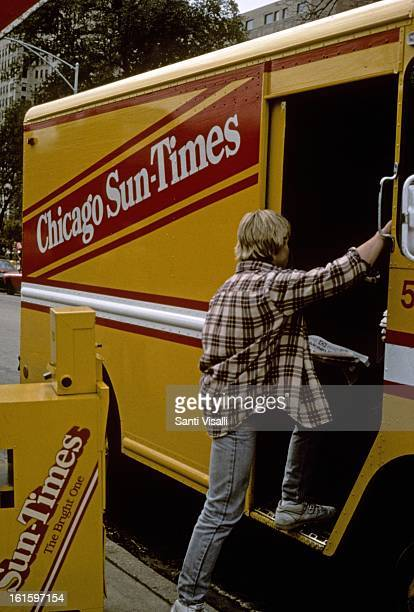 Chicago SunTimes truck on Novermber 5 1986 in Chicago Illinois