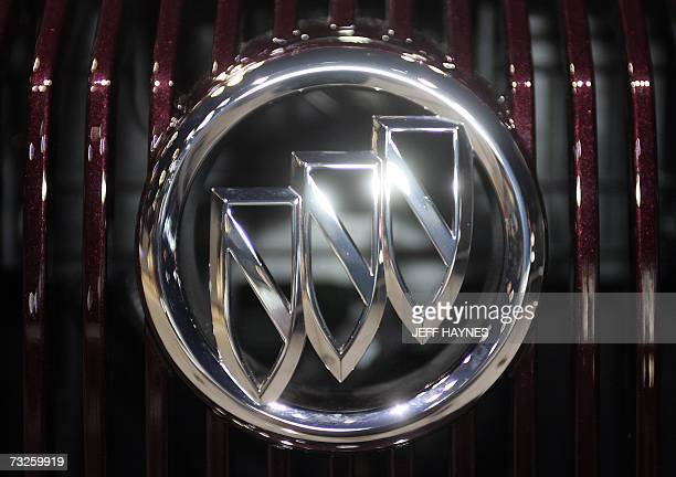 The Buick emblem on the grill of a new car 08 February 2007 at the Chicago Auto Show in McCormick Place in Chicago Illinois AFP PHOTO/JEFF HAYNES