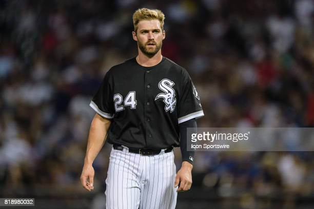 Chicago White Sox designated hitter Matt Davidson during an MLB game between the Los Angeles Dodgers and the Chicago White Sox on July 18 at...