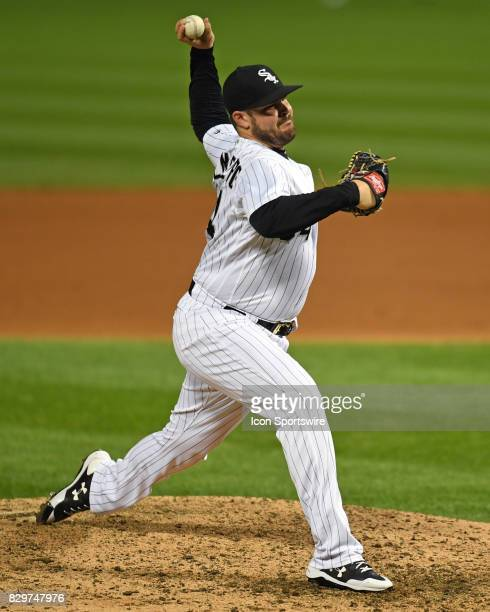 Chicago White Sox relief pitcher David Holmberg pitches during a game between the Houston Astros and the Chicago White Sox on August 9 at Guaranteed...