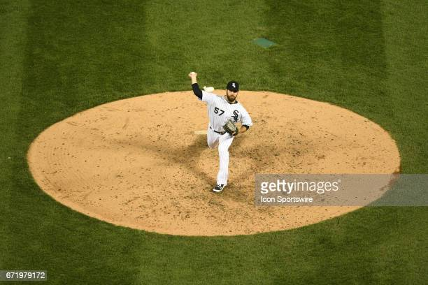 Chicago White Sox relief pitcher Zach Putnam pitches during a game between the Cleveland Indians and the Chicago White Sox on April 22 at Guaranteed...