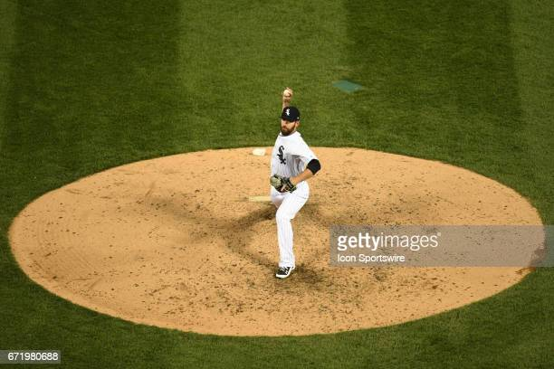 Chicago White Sox relief pitcher Zach Putnam pitches in the sixth inning during a game between the Cleveland Indians and the Chicago White Sox on...