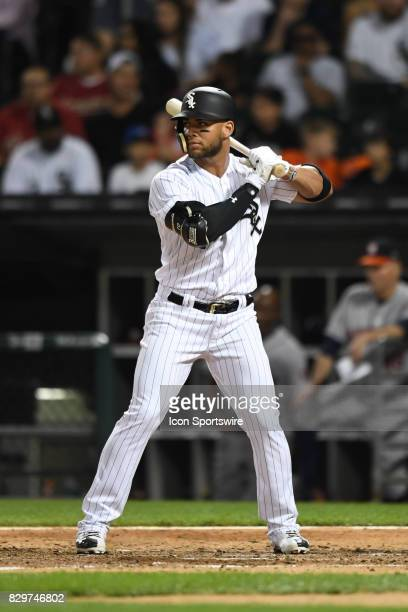 Chicago White Sox second baseman Yoan Moncada at bat during a game between the Houston Astros and the Chicago White Sox on August 9 at Guaranteed...