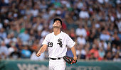 Chicago White Sox starting pitcher Jacob Turner watches a ball drift foul in the third inning against the Detroit Tigers at US Cellular Field in...