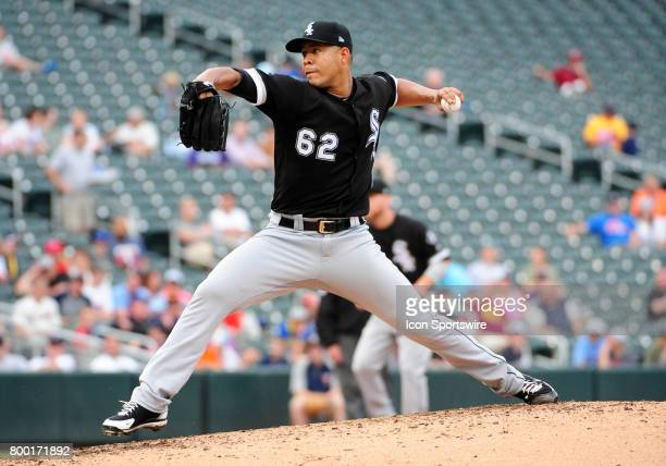 Chicago White Sox Starting pitcher Jose Quintana delivers a pitch during a MLB game between the Minnesota Twins and Chicago White Sox on June 22 2017...