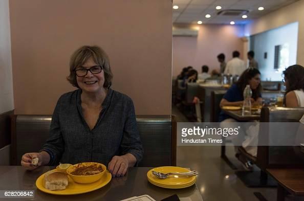 Chicagobased food historian and writer Colleen Taylor Sen tasting Pav Bhaji at Swati Snacks Tardeo on November 18 2016 in Mumbai India Colleen said...