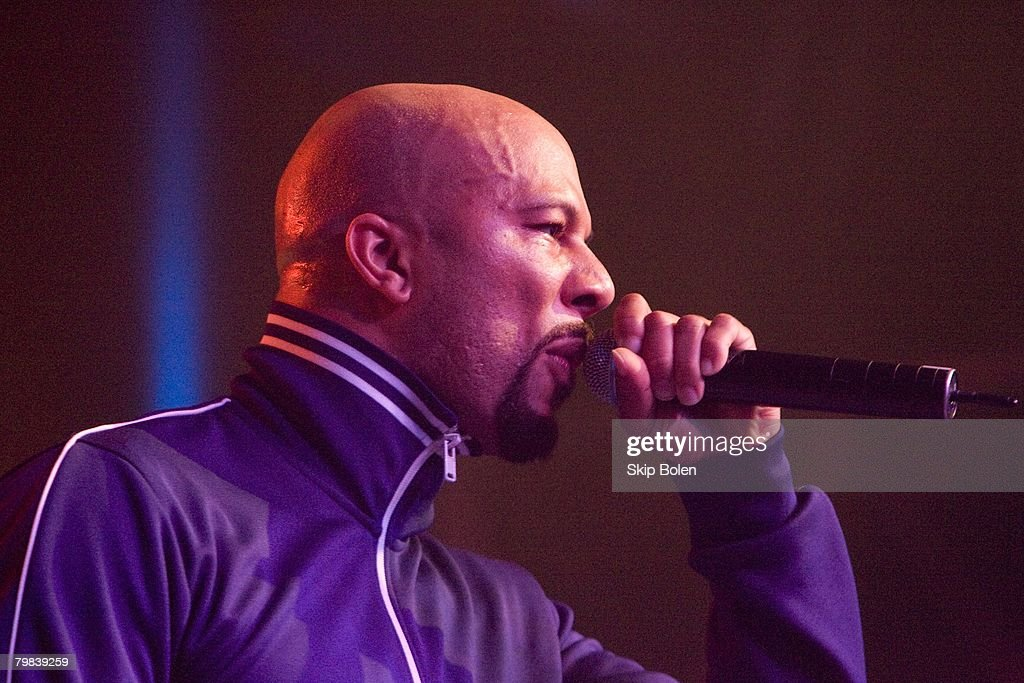Chicago-bred rapper Common performs for the crowd at the ESPN The Magazine's After Dark Party at Generations Hall on February 15, 2008 in New Orleans, Louisiana.