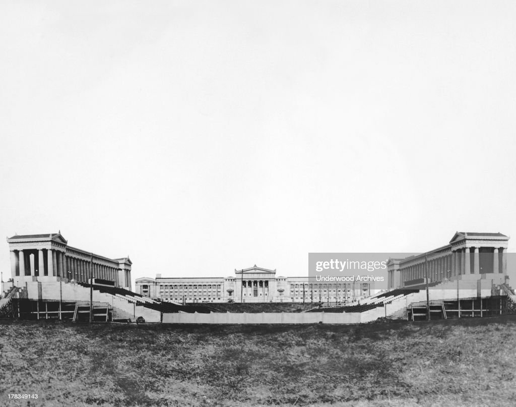 Chicago's new beautiful stadium will be the scene of the American Legion celebration on Armistice Day and hereafter the stadium will be known as...