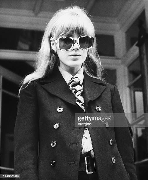 Singer Marianne Faithfull leaves court here June 28 where her boyfriend Mick Jagger leader of the Rolling Stones was sentenced to three months in...