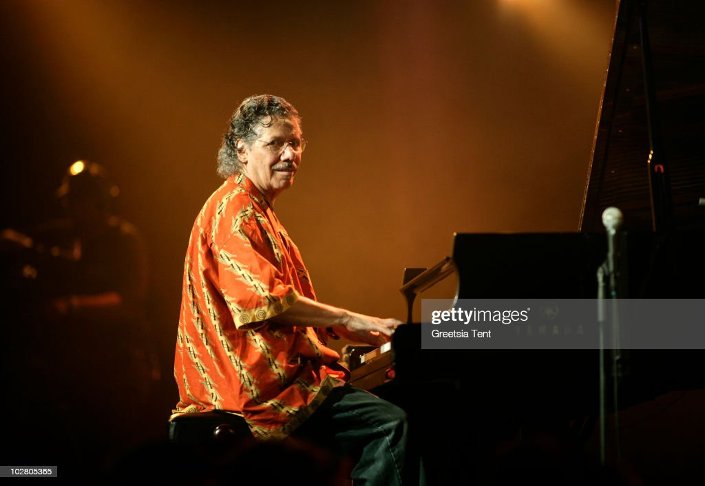 <a gi-track='captionPersonalityLinkClicked' href=/galleries/search?phrase=Chick+Corea&family=editorial&specificpeople=1657212 ng-click='$event.stopPropagation()'>Chick Corea</a> performs live at day 2 of The North Sea Jazz Festival at Ahoy on July 10, 2010 in Rotterdam, Netherlands.