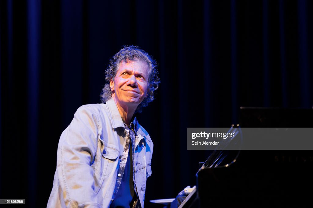 <a gi-track='captionPersonalityLinkClicked' href=/galleries/search?phrase=Chick+Corea&family=editorial&specificpeople=1657212 ng-click='$event.stopPropagation()'>Chick Corea</a> performs on stage at Halic Congress Center for the 21st Istanbul Jazz Festival organized by IKSV on July 8, 2014 in Istanbul, Turkey.