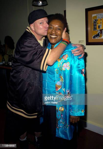 Chick Eglee and CCH Pounder during Cafe Societe The Art of Camara Gueye July 7 2005 in Los Angeles California United States