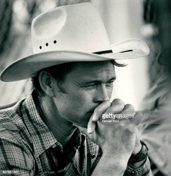 Chick Elms Stephenville TX deep in thought before his event bareback bronc riding Credit The Denver Post