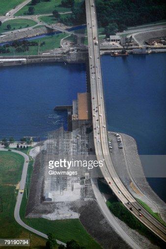 Chickamauga hydroelectric dam, Tennessee, USA : Foto de stock