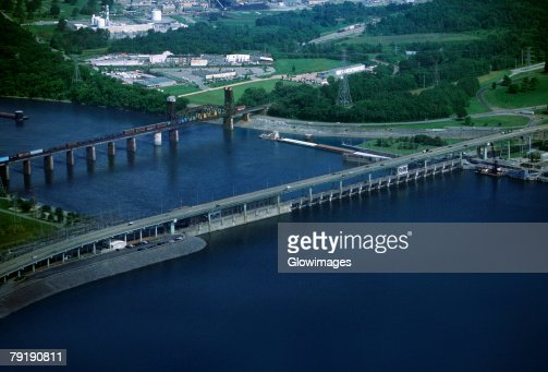 Chickamauga hydroelectric dam, Tennessee, USA : Stock Photo