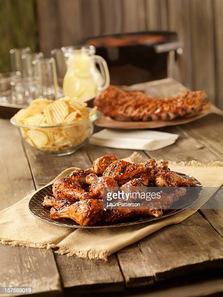 BBQ Chicken and Pork Ribs