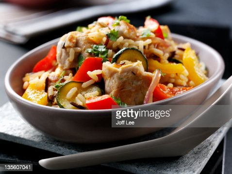 Chicken and rice : Stock Photo