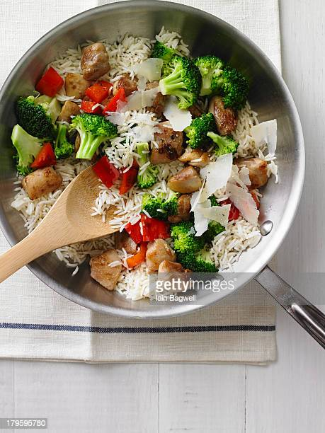 Chicken and Rice Stir Fry