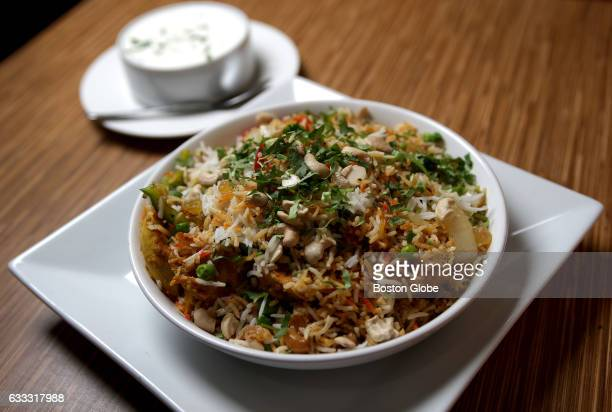 Chicken Biryani is pictured at House of Kebab in Ball Sq in Somerville MA on Apr 2 2016