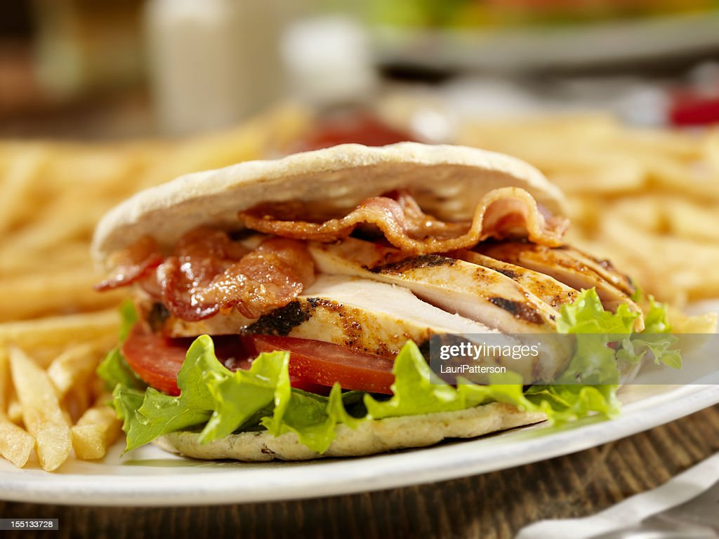 BBQ Chicken BLT : Stock Photo