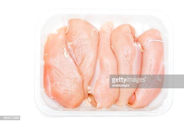Chicken breasts against white background ( series)