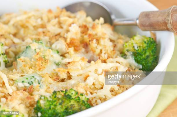 Chicken Broccoli Casserole with Breadcrumbs and Cheese