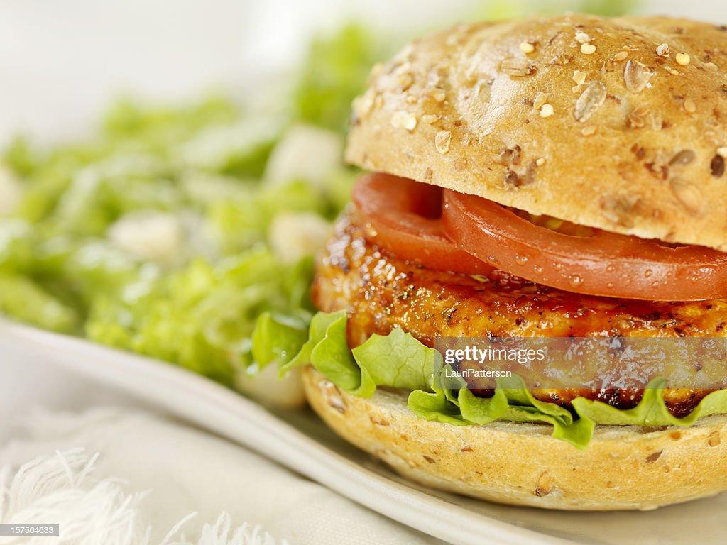 BBQ Chicken Burger : Stock Photo