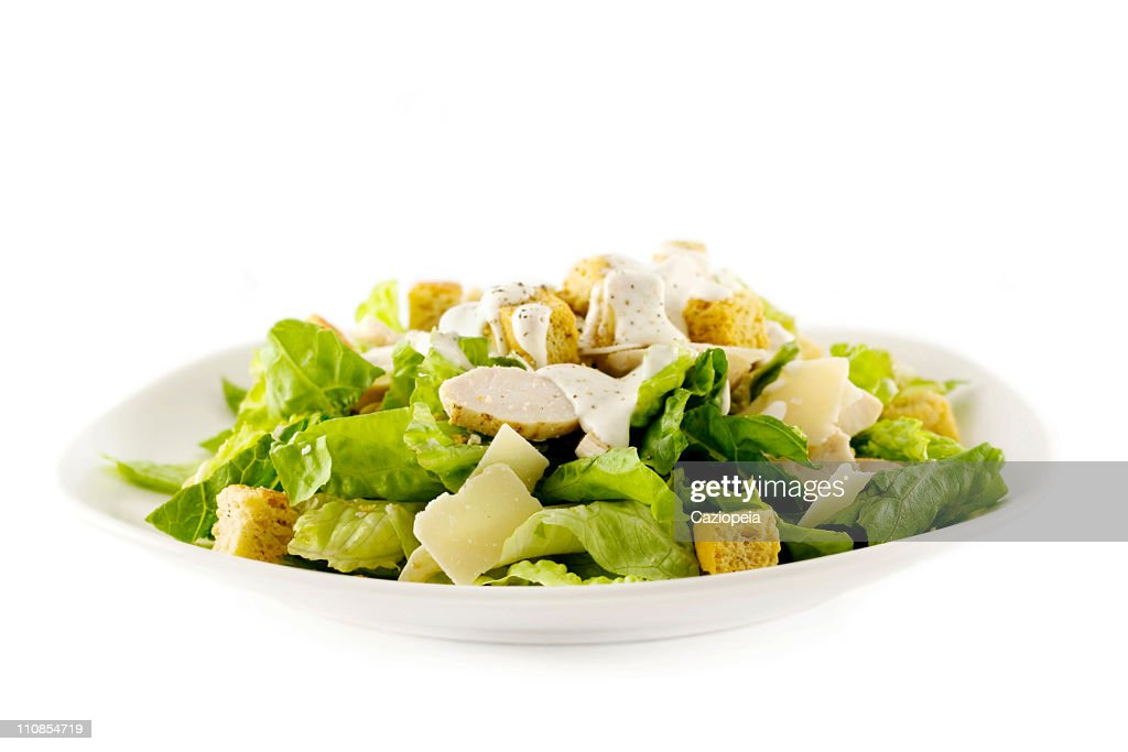 Chicken Caesar salad : Stock Photo