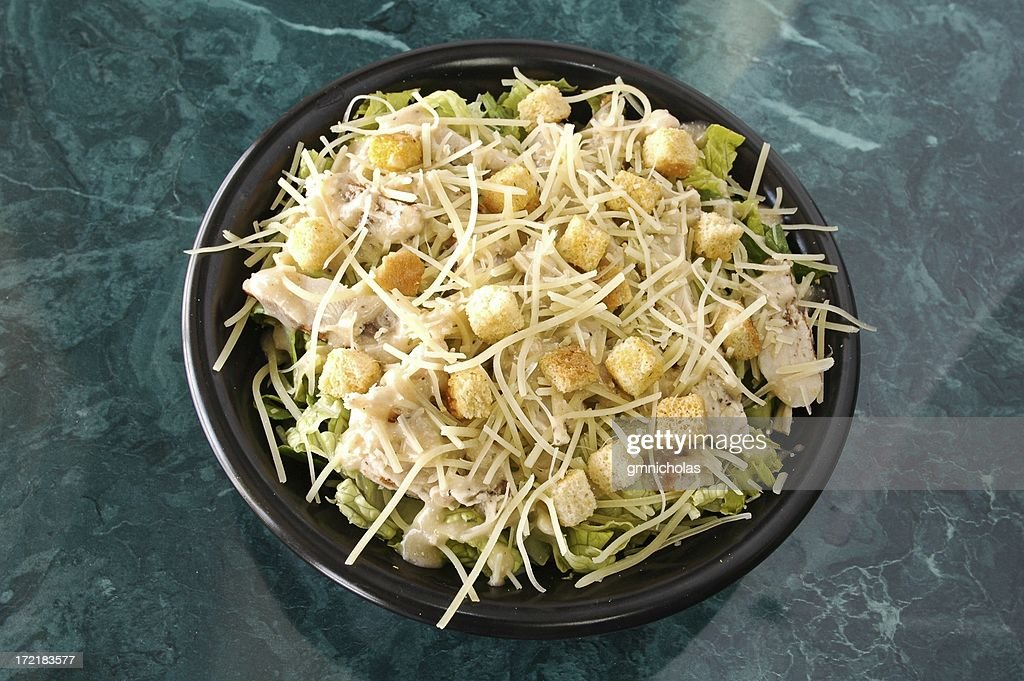 Chicken caesar salad : Stock Photo