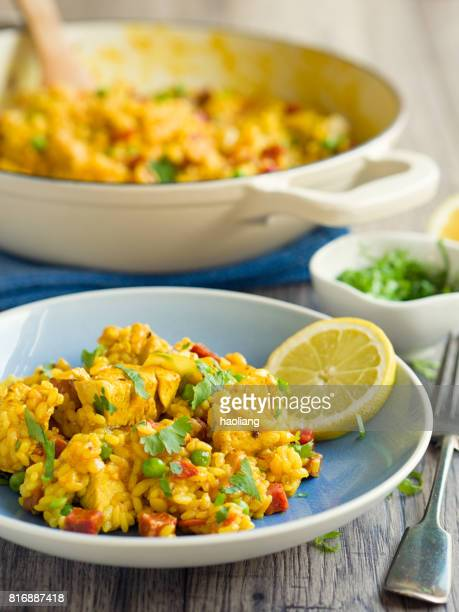 Chicken chorizo paella