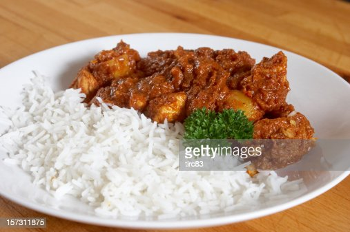 Chicken curry and boiled rice stock photo getty images ccuart Images
