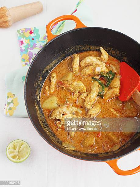 Chicken curry in pot