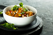 Chicken curry with cilantro