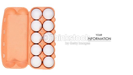 chicken eggs in a box pattern stock photo thinkstock