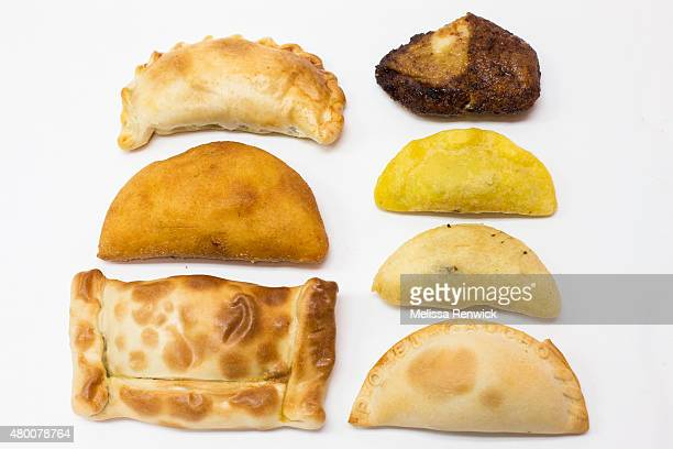 Chicken empanada from Las Delicias beef empanada from Las Delicias beef empanada from Juan Meat Market beef empanada from Latin Taste plantain and...