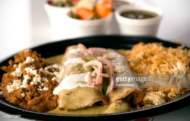 Chicken Enchiladas Lunch Plate, Mexican Fast Food Restaurant Take Out