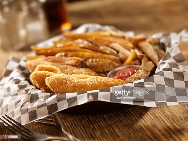 Chicken Fingers with Hand Cut French Fries