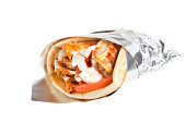 Chicken Gryo with Tomatoes and tzatziki.