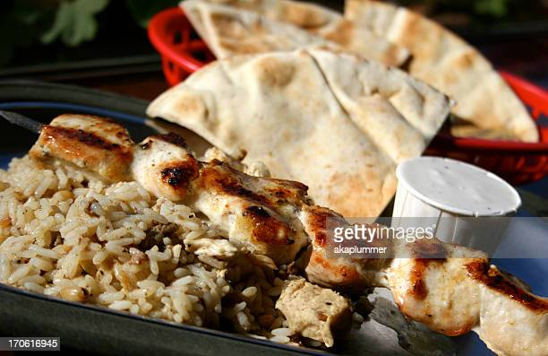 Chicken Kabob with Rice
