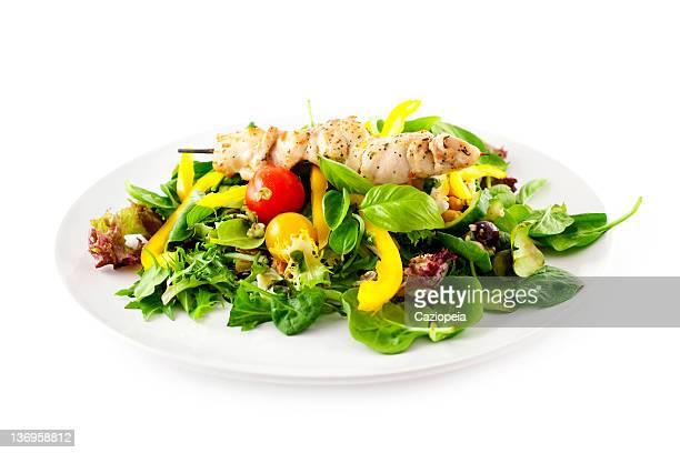 Chicken Kebab with Salad